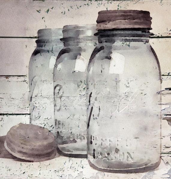 Vintage Jars. Giclee Print by Irena Orlov