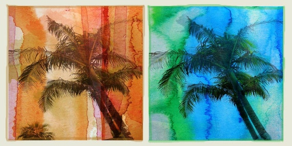 "Tropical beauty . Canvas Print by Irena Orlov 48"" x 20"""