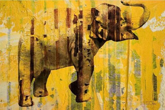 Yellow Elephant. Canvas Print by Irena Orlov