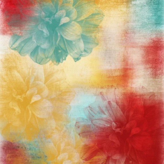 Floral paradise. Large wall art, flower canvas art print, fine art print, Abstract splash flower by Irena Orlov