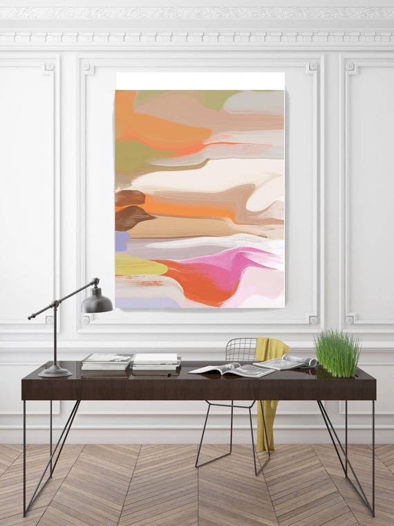 """The song begins. Abstract Paintings Art, Wall Decor, Extra Large Abstract Colorful Contemporary Canvas Art Print up to 72"""" by Irena Orlov"""