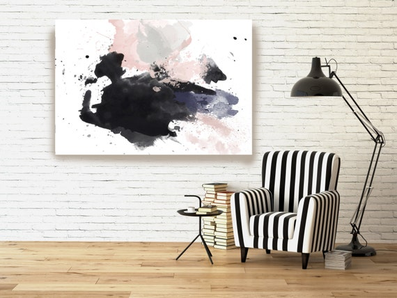 "Splash Emotion 1. Abstract Paintings Art, Wall Decor, Extra Large Abstract Colorful Contemporary Canvas Art Print up to 72"" by Irena Orlov"