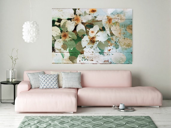"The brilliance of the day II. Floral Painting, White Abstract Art, Abstract Colorful Contemporary Canvas Art Print up to 72"" by Irena Orlov"