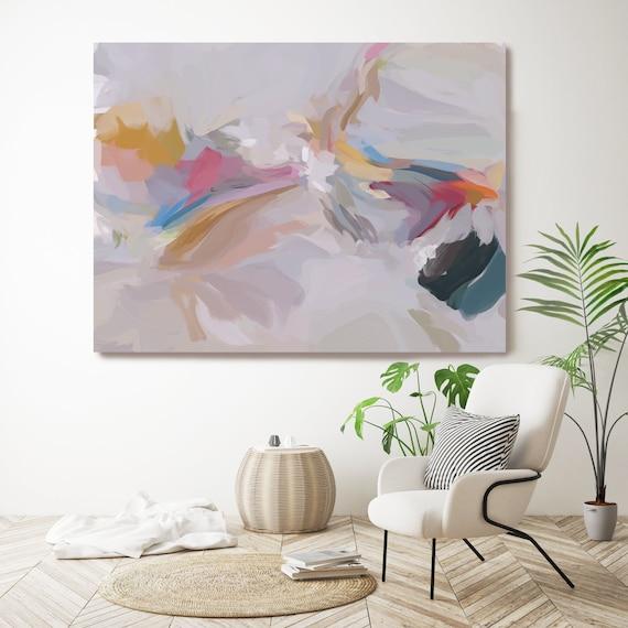 Cashmere, Large Art Abstract Painting Gray Wall Art Home Decor Canvas Prints Coastal Wall Decor Canvas Art Print Irena Orlov