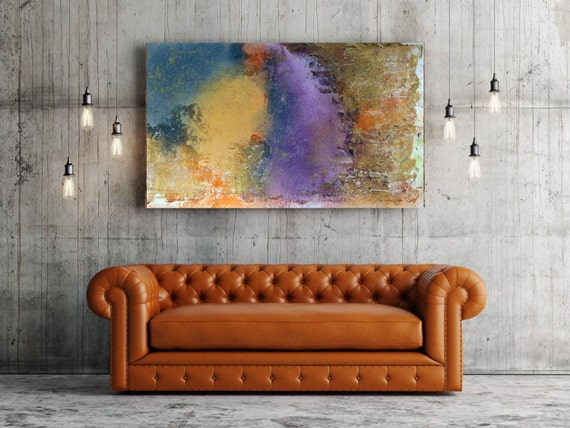 """ORL-6935-3 Vibrant hues 1. Abstract Paintings Art, Wall Decor, Extra Large Abstract Colorful Canvas Art Print up to 72"""" by Irena Orlov"""