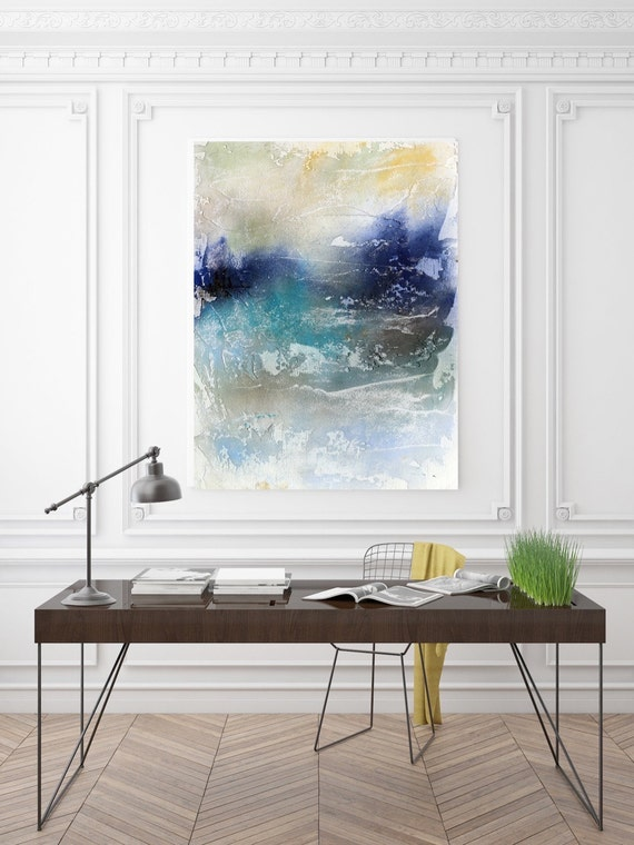 "Sea of Blues. Abstract Paintings Art, Wall Decor, Extra Large Abstract Colorful Contemporary Canvas Art Print up to 72"" by Irena Orlov"