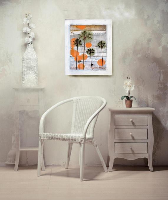 "Vintage Contemporary Framed Signed Fine Art Print "" California "" 18"" X 24"" by Irena Orlov"