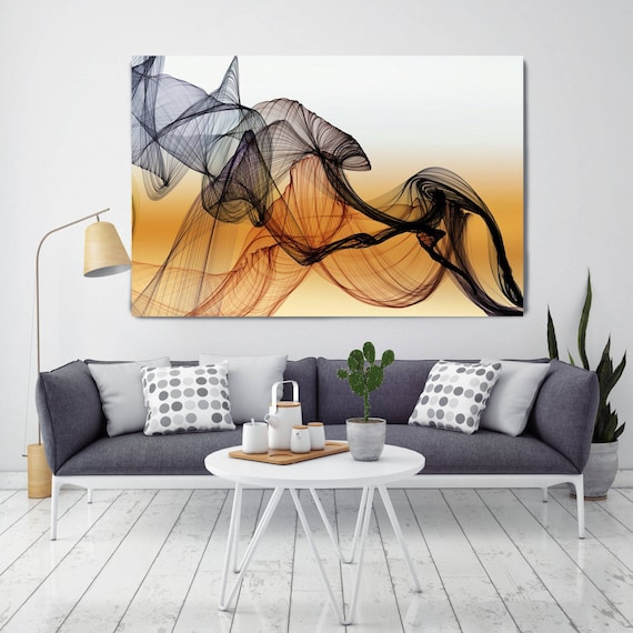 The Invisible World, 72 Inch Canvas, Canvas Print, Brown Abstract Art, Unique Abstract Art, Huge Canvas Wall Art, Wall Decor Canvas