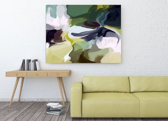 Prevailing Winds 8999. Original Abstract Green Oil Painting, Contemporary Large Original Oil on Canvas, Abstract Oil Painting by Irena Orlov