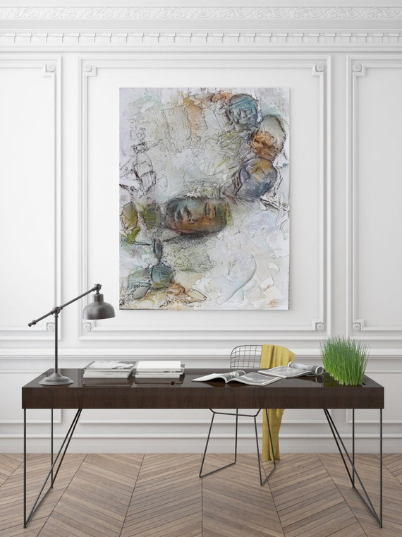 "Earth Tones. Abstract Paintings Art, Wall Decor, Extra Large Abstract Colorful Contemporary Canvas Art Print up to 72"" by Irena Orlov"