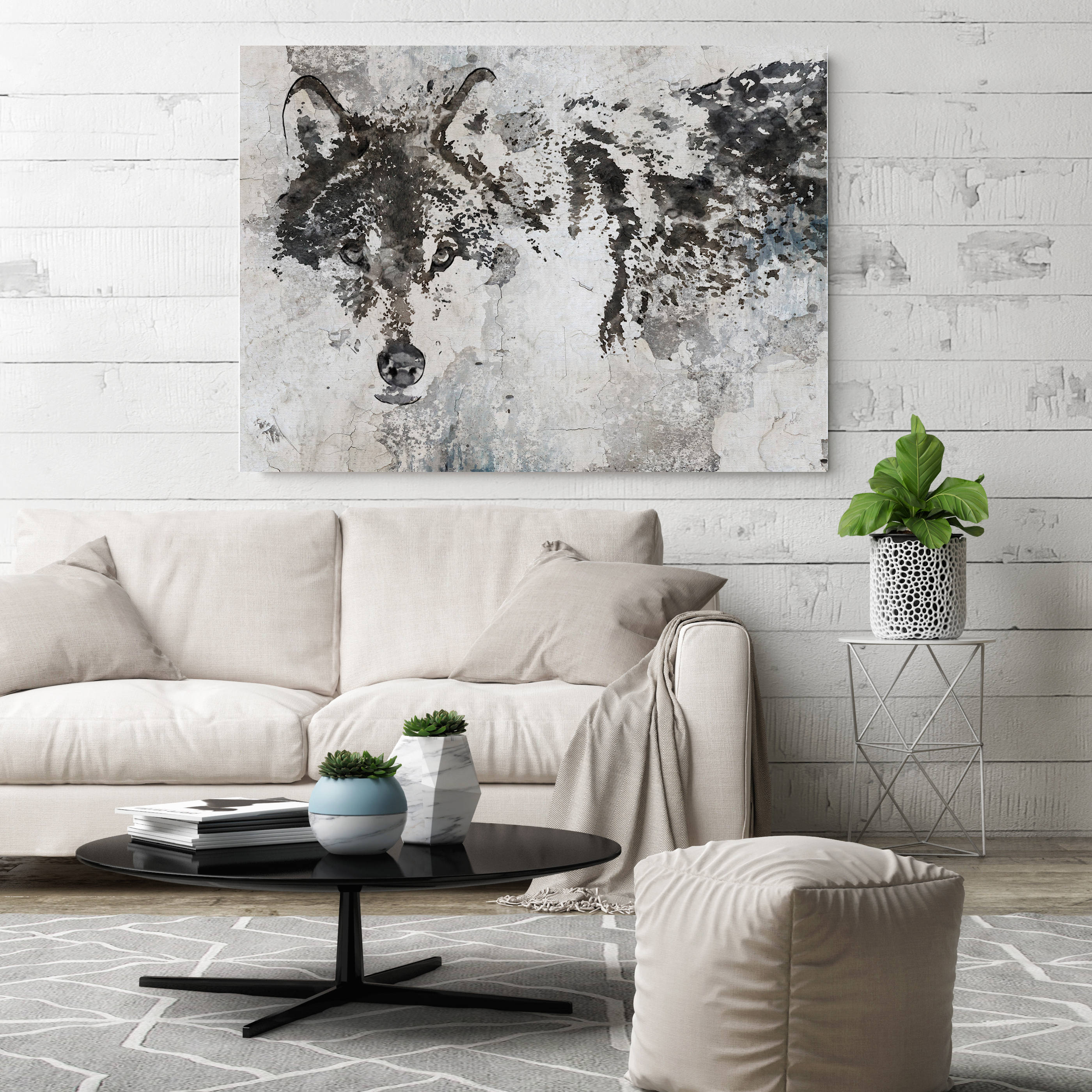 Wolf Canvas Art, Wolf Canvas Painting, Wolf Wall Art, Wolf