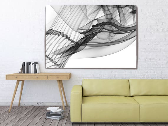 "Abstract Black and White 18-26-46. Contemporary Unique Abstract Wall Decor, Large Contemporary Canvas Art Print up to 72"" by Irena Orlov"