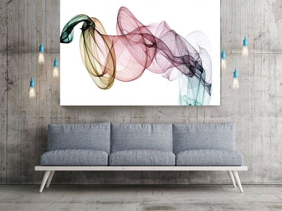 """The Invisible World-Movement19_53_43, Abstract New Media Art, Wall Decor, Extra Large Abstract  Canvas Art Print up to 72"""" by Irena Orlov"""