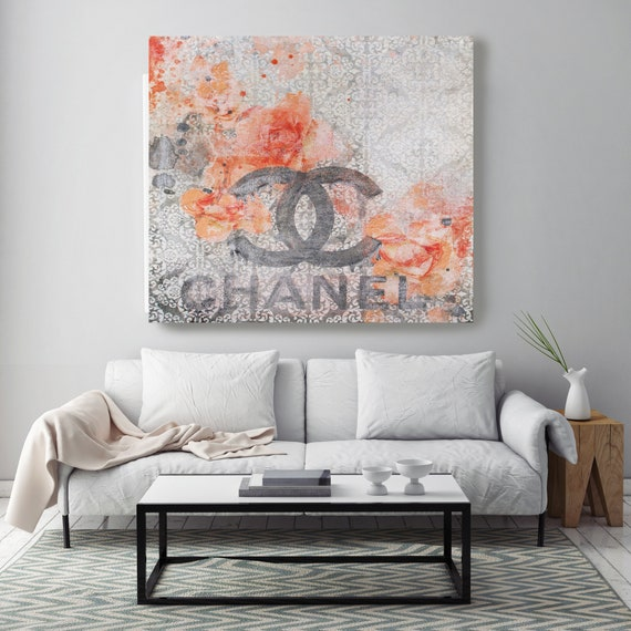 Chanel Canvas, Chanel, Large Canvas, Fashion Home Decor, High Fashion, Art Canvas, Fashion, Fashion brand, Home The beauty look 3 Print