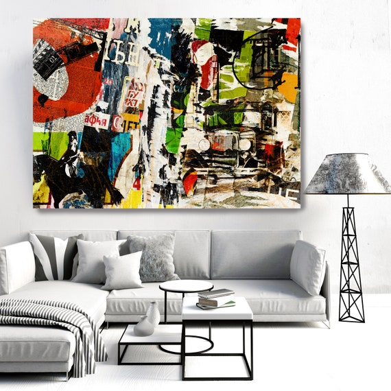 Graffiti Art - Urban Wall Art - Contemporary Wall Art - Urban Art - Large Abstract Art - Textured Painting - Large Wall Art - Canvas Print