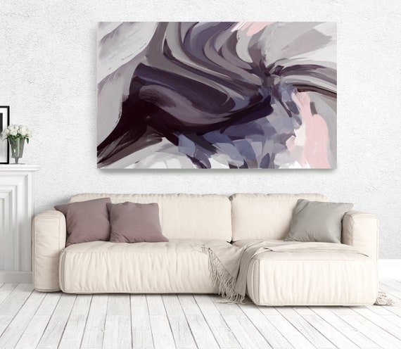"The Color Movement 8, Abstract Painting Modern Wall Art Painting Canvas Art Print Art Modern Pink Purple Blue up to 80"" by Irena Orlov"