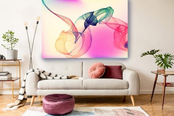 Pink Green Painting Print, Abstract Wall Art Contemporary Art Large Abstract Canvas Abstract Canvas Print, Modern Abstract, modern art