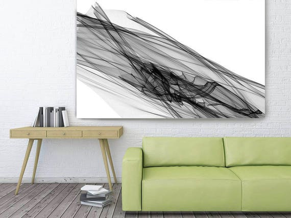"Abstract Black and White 20-46-33. Contemporary Unique Abstract Wall Decor, Large Contemporary Canvas Art Print up to 72"" by Irena Orlov"
