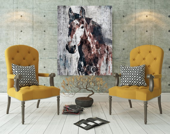 "Target, Brown Ranger Horse. Extra Large Horse, Unique Horse Wall Decor, Rustic Horse, Large Horse Canvas Art Print up to 72"" by Irena Orlov"