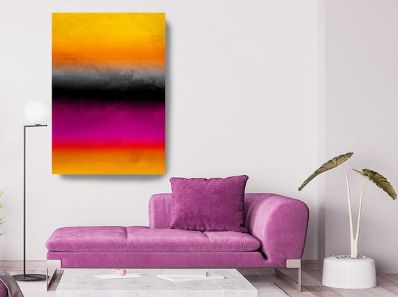 Art Abstract Painting Color-block Abstract Painting, Contemporary Art Hand Painted Extra Large, Canvas Print, Abstract Inspired by Rothko 73