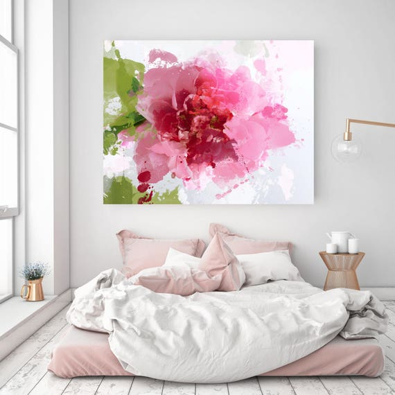 "Sparkle bright. Floral Painting, Pink Abstract Art, Wall Decor, Abstract Colorful Contemporary Canvas Art Print up to 72"" by Irena Orlov"