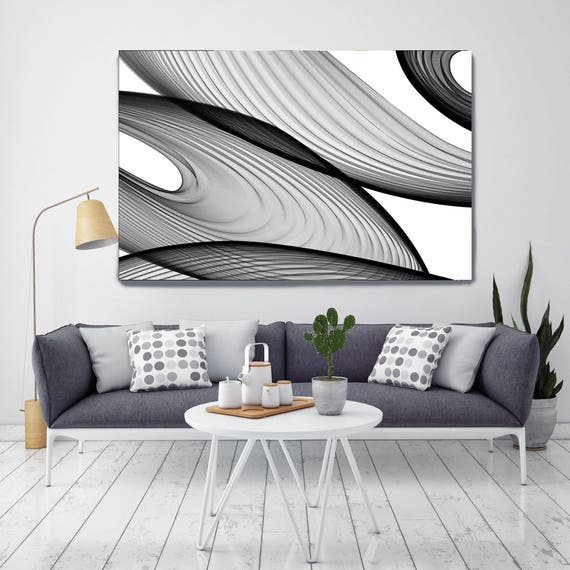 "Abstract Black and White 21-43-56. Contemporary Unique Abstract Wall Decor, Large Contemporary Canvas Art Print up to 72"" by Irena Orlov"