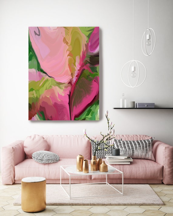 Crisp pink, Large abstract painting Original abstract painting Canvas painting Large Canvas Print Original painting Large Wall Art