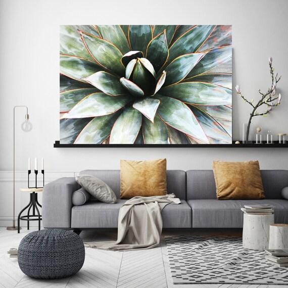 Agave Heart 1. SUCCULENT Wall Art, Pale Green CANVAS Prints, Succulent Print, Plant Print, Succulent Art Print, Botanical Print, Wall Print