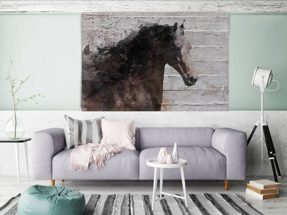 "Gorgeous Brown Horse. Extra Large Horse, Horse Wall Decor, Brown Rustic Horse, Large Canvas Art Print up to 72"" by Irena Orlov"