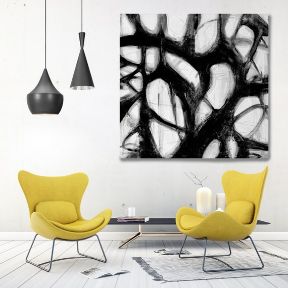 Black And White Abstract, Abstract Canvas Art Print, Abstract Wall Art, Minimalist Prints, Wall Decor, Rippled Water Surface.