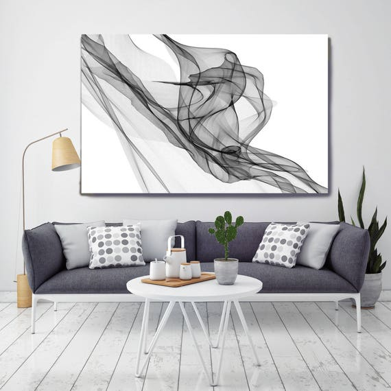 "Abstract Black and White 19-18-58. Contemporary Unique Abstract Wall Decor, Large Contemporary Canvas Art Print up to 72"" by Irena Orlov"