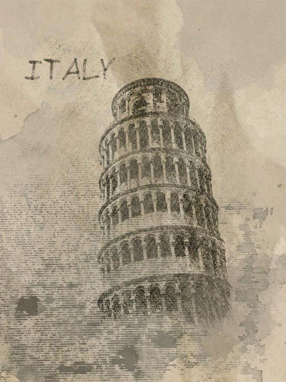 "Italy Rainy Mood. Canvas Print by Irena Orlov 24x36"", large canvas art print, wall art print, wall decor, fine art print"