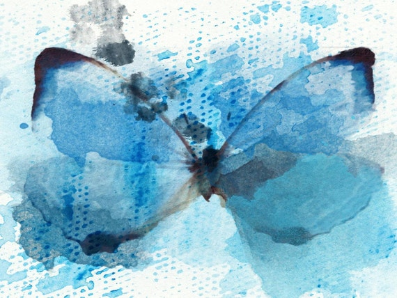 """Butterfly 1976 Canvas Print by Irena Orlov up to 60"""" ,large butterfly canvas print, butterfly wall decor, butterfly art print"""