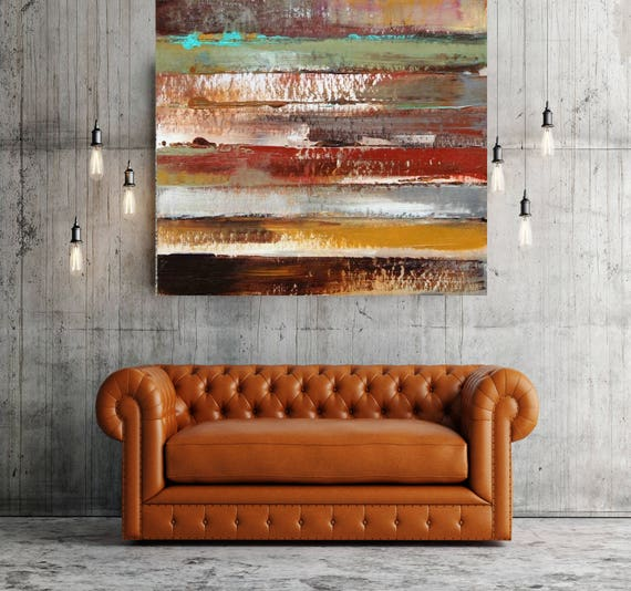 """Main Boulevard I. Geometrical Abstract Art, Wall Decor, Extra Large Abstract Colorful Contemporary Canvas Art Print up to 48"""" by Irena Orlov"""