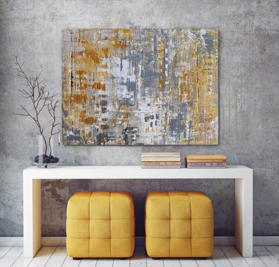 """In the Realms of Gold. Abstract Paintings Art, Wall Decor, Large Abstract Colorful Contemporary Canvas Art Print up to 72"""" by Irena Orlov"""