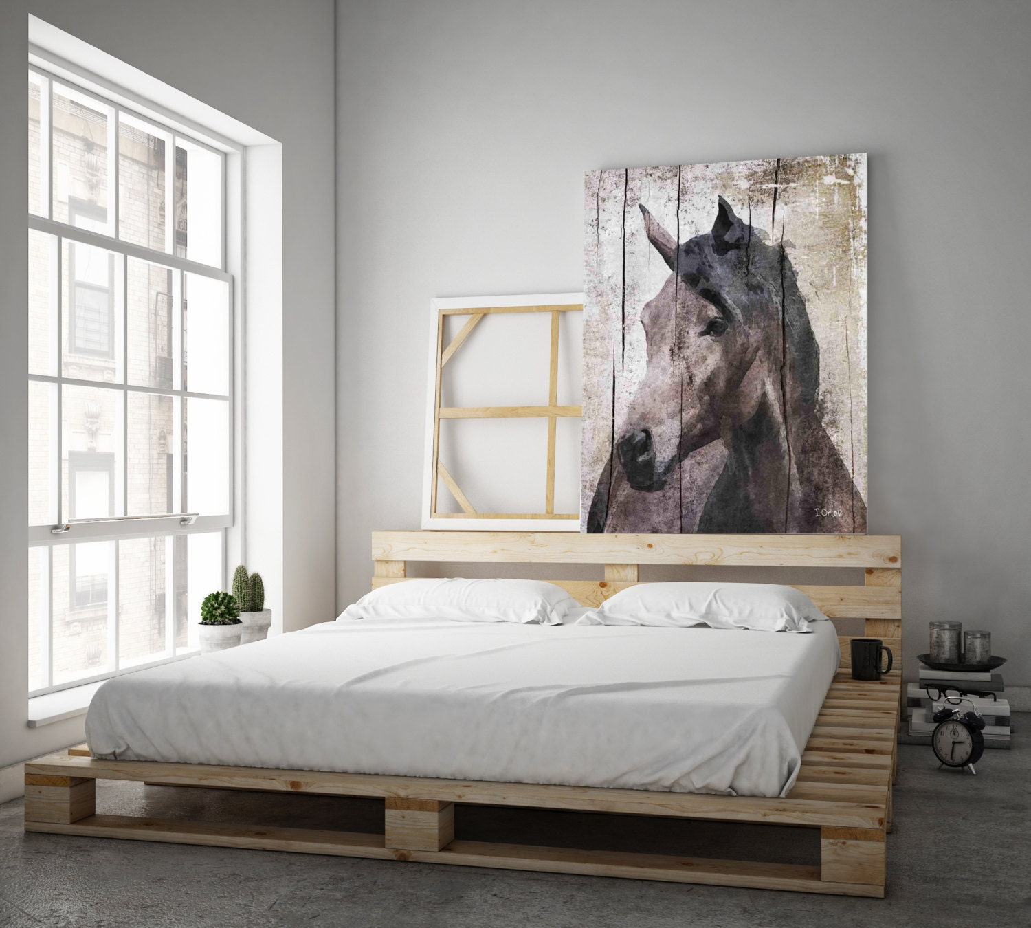Horse lemuse extra large horse unique horse wall decor brown