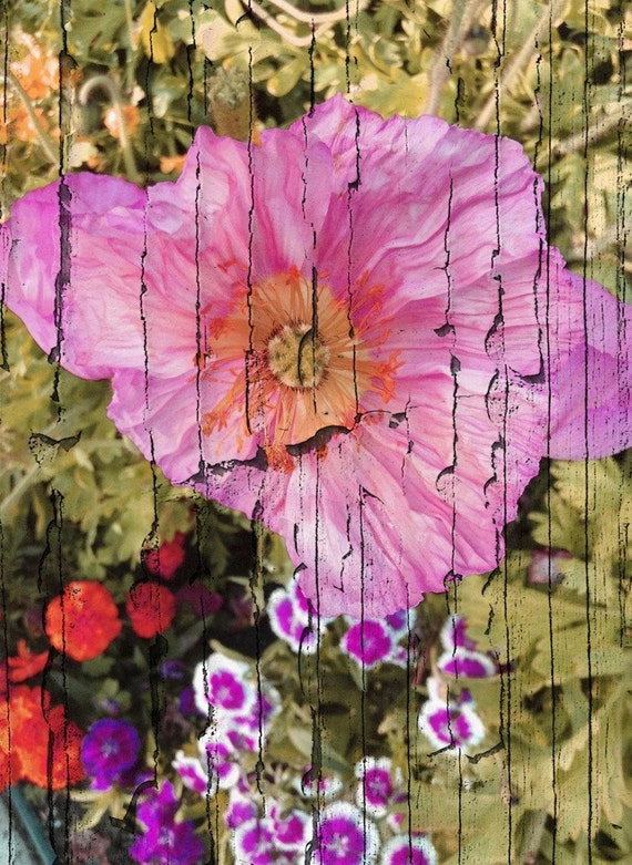 """Summer Blooming Garden. Floral Painting, Pink Green Abstract Art, Abstract Colorful Contemporary Canvas Art Print up to 72"""" by Irena Orlov"""