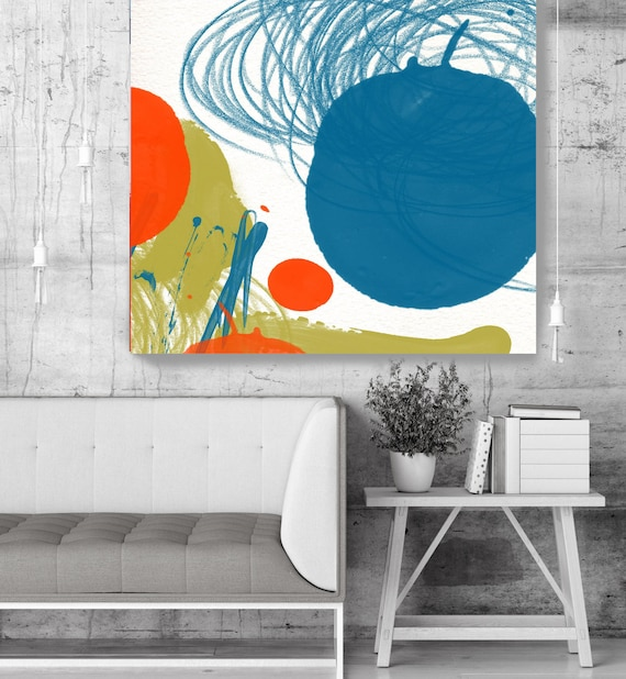 "Happy Mood - Yashna. Geometrical Abstract Art, Wall Decor, Large Abstract Colorful Contemporary Canvas Art Print up to 48"" by Irena Orlov"