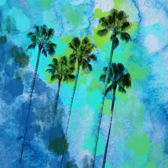 "Palm trees on the beach. Canvas Print by Irena Orlov  30"" x 30"""