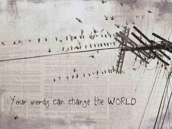 "Your Words can change the world. Canvas Print by Irena Orlov 24"" x 36"""