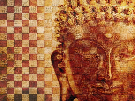 "Gautama Buddha. Extra Large Canvas Print up to 60""  by Irena Orlov"
