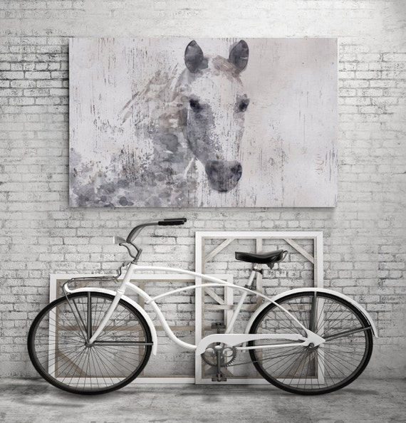 "Gorgeous Dapple Horse. Extra Large Horse, Horse Wall Decor, Gray Rustic Horse, Large Contemporary Canvas Art Print up to 72"" by Irena Orlov"