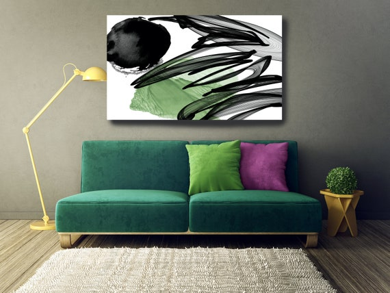 The Poetry of Color 5, Minimalist Art, Green Minimalist Art Painting Print on Canvas, Large Canvas Print, Minimal Canvas Print Abstract Art
