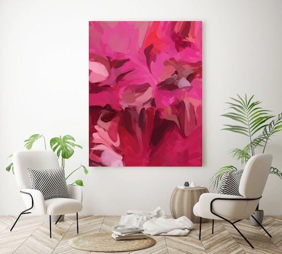 Energized, Red Large abstract painting Original abstract painting Canvas painting Large Canvas Print Original painting Large Wall Art