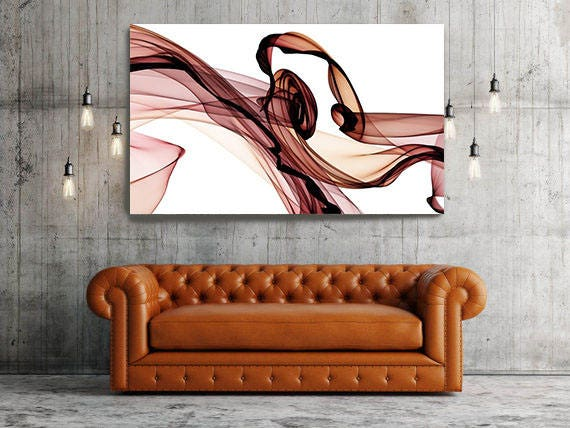 "The Invisible World-Movement14_48_04, Abstract New Media Art, Wall Decor, Extra Large Abstract Brown Canvas Art Print up to 72"", Irena Orlov"