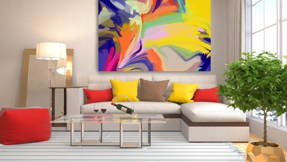 Desert Mirage 19, Original Art, Abstract, Trending Now, Neon Colors Painting Extra large Acrylic Painting on Canvas, Boho Decor