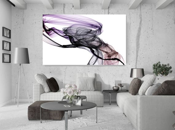 "The Invisible World-Movement18_28_07, Abstract New Media Purple Black Brown, Extra Large Abstract Canvas Art Print up to 72"" by Irena Orlov"