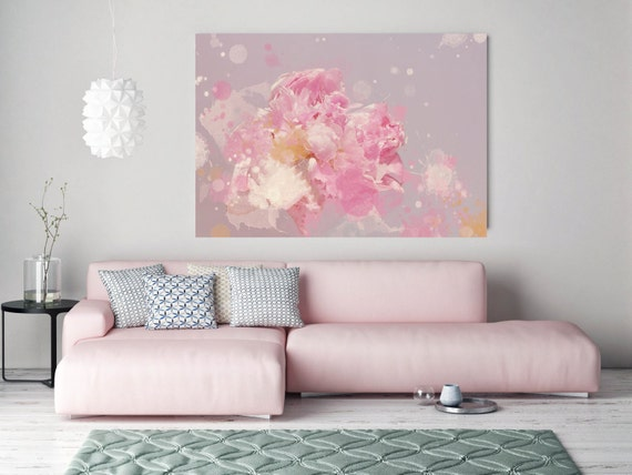 "Floral in Pink. Floral Painting, Pink Abstract Art, Wall Decor, Abstract Colorful Contemporary Canvas Art Print up to 72"" by Irena Orlov"
