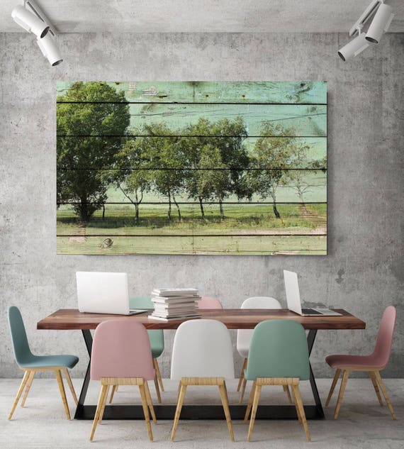 "ORL-11603-1 Rustic Landscape 7. Huge Rustic Landscape Painting Canvas Art Print, Extra Large Green Canvas Art Print up to 80"" by Irena Orlov"