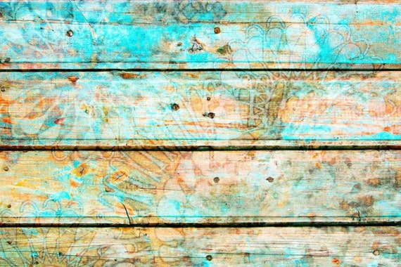 """Layers of blue. Huge Rustic Landscape Painting Canvas Art Print, Extra Large Blue Yellow Canvas Art Print up to 50"""" by Irena Orlov"""